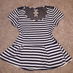 Striped Dress Top Give the upper body a nice shape! Can fit medium or large! Monteau Tops Blouses