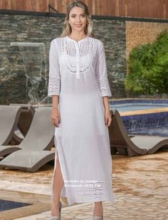 CONJUNTOS Y VESTIDOS - PRIMAVERAL Bordados y Accesorios Hippie Chic, Nice Dresses, Look, Fashion Dresses, White Dress, Vintage Fashion, Blazer, My Style, Blouse