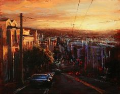 Urban Landscape Paintings by Lindsey Kustusch