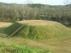 The Etowah indian Mounds in Cartersville Georgia.. View out my window