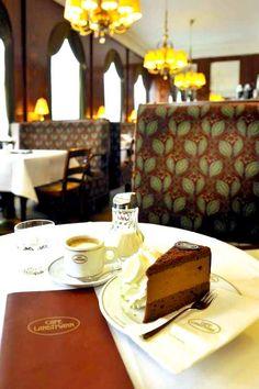 Cafe Landtmann, Vienna Austria...looks perfect