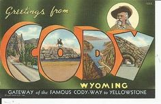 Greetings From Cody, Wyoming Post Card