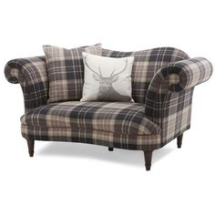 Moray Check Cuddler Sofa ($19) ❤ liked on Polyvore featuring home, furniture, sofas and colored furniture