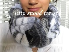 Snood tressé au tricot - tutoriel en vidéo                                                                                                                                                                                 Plus Diy Scarf, Scarf Hat, African Braids Hairstyles, Braided Hairstyles, Knitting Yarn, Knitting Patterns, Mittens, Winter Hats, Couture
