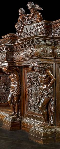 Ideas Wood Carving Furniture Antiques For 2019 Victorian Furniture, Vintage Furniture, Furniture Styles, Cool Furniture, Dark Wood Kitchens, Wooden Art, Wood Sculpture, Wood Carving, Victorian Homes