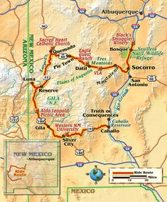Astronomy, history and great roads on this motorcycle ride through the center of New Mexico, the Land of Enchantment. Mexican Desert, New Mexican, Pie Town, Travel New Mexico, Motorcycle Rides, Guest Ranch, Silver City, Land Of Enchantment, Trail Maps