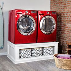 Build your own laundry machine pedestal @ TOH