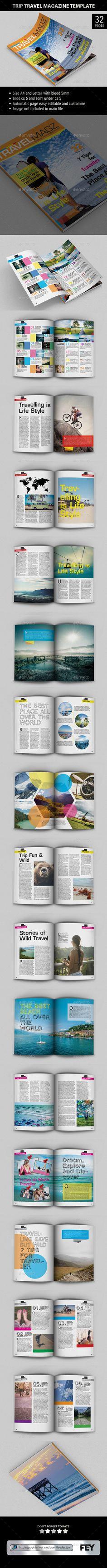 Trip Travel - Magazine Template   Download: http://graphicriver.net/item/trip-travel-magazine-template/9717069?ref=ksioks