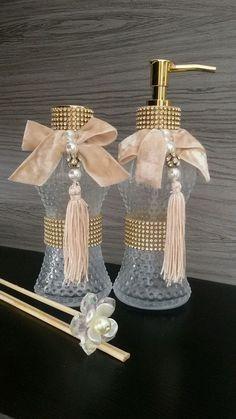 Kit Lavabo Luxo Zenil Acompanha: Difusor Essência Bamboo Sabonete Líquido Varetas Bandeja espelhada