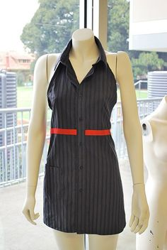 Dress apron from a button-down shirt... yo!