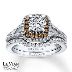 Le Vian Bridal Set 1 1/3 ct tw Diamonds 14K Vanilla Gold