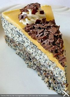 Poppy seed cream cake, a sophisticated recipe from the baking category. Ratings: Average: Ø Poppy seed cream cake, a sophisticated recipe from the baking category. Easy Cake Recipes, Sweet Recipes, Baking Recipes, Baking Desserts, Baking Tips, Paleo Dessert, Dessert Recipes, Sweet Bakery, Cupcakes