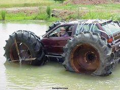 Mud bog! Honda civic...