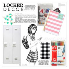 """Decorate Your Locker"" by leoll ❤ liked on Polyvore featuring interior, interiors, interior design, home, home decor, interior decorating, Aéropostale, Caran D'Ache, Day Designer and KAROLINA"