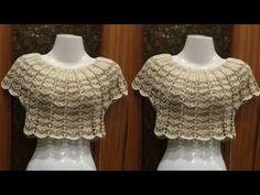 MARAVILLOS TEJIDOS A CROCHET EN VARIADO MODELOS Y COLORES - YouTube Black Crochet Dress, Crochet Crop Top, Crochet Cardigan, Crochet Lace, Diy Crafts Knitting, Diy Crafts Crochet, Crochet Collar, Crochet Videos, Diy Dress