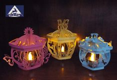 3D SVG files 3 Butterfly Lanterns by zigtac on Etsy