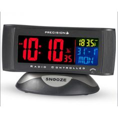 New Precision Radio Controlled Digital Moon Phase Alarm Wall Clock