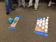 Grade: Coding Dash for a bowling game. Dash And Dot Robots, Dash Robot, Computer Lab Lessons, Computer Science, Gaming Computer, Computational Thinking, Coding For Kids, Stem Activities, Bowling