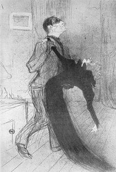 Drawing by Henri de Toulouse-Lautrec.