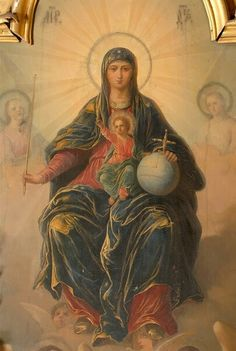 Icon from Radmila Idimum Mother Of Christ, Christ The King, Blessed Mother Mary, Blessed Virgin Mary, Jesus Christ Images, Jesus Art, Religious Icons, Religious Art, Christian Artwork
