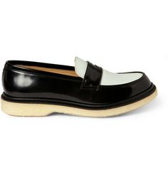 99ddc82a749 Adieu Two-Tone Crepe-Soled Penny Loafers