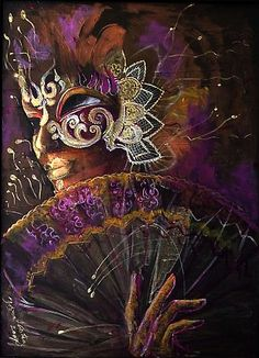 """""""Mask with fan"""" - By Dorina Costras"""