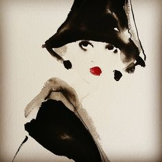 Tall black hat. Bridget Davies Art