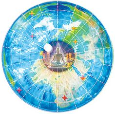 world map with north pole in center Google Search World Map