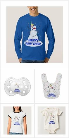 New Years Snowmen Happy New Year!! Check out the variety of New Years themed goodies for your New Years Party.....shirts, mugs, home decor, gifts and more! #SnowmenYearround #Newyearscelebration #Gravityx9
