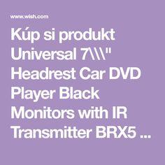 """Kúp si produkt Universal 7\\\"""" Headrest Car DVD Player Black Monitors with IR Transmitter BRX5 v aplikácii Wish - Nakupovanie je zábava"""