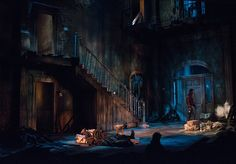 The Whipping Man. Scenic design by Tony Cisek. Stage Lighting Design, Dramatic Lighting, Stage Design, Set Design Theatre, Prop Design, Stage Set, Center Stage, Design Research, Scenic Design