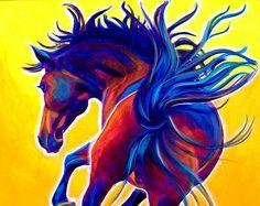 Horse, Pet Portrait, DawgArt, Horse Art, Southwestern Art, Equestrian Art, Pet…