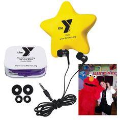 Lower Bucks County YMCA Appreciation Giveaways: Ear Buds & Star Stress Relievers