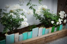 garden edging from recycled scrap wood