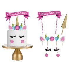 Taartversieringen | Cupcake-store and More! Cake Unicornio, Tiered Cakes, Wedding Designs, Happy Birthday, Cupcakes, Diy, Store, Cakes, Tortilla Pie
