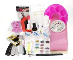 gel nail and manicure kit with nail art from missliplash.net Nail Kits, Gel Nail Kit, Gel Nails, Manicure, Nail Tech, Lamps, Art, Gel Nail, Nail Bar