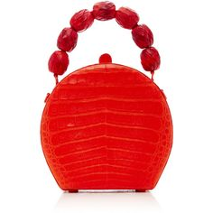 Nancy Gonzalez BILLIE BAG (46.570 ARS) ❤ liked on Polyvore featuring bags, handbags, red, crocodile embossed handbags, top handle purse, top handle handbags, croco embossed handbags and nancy gonzalez purse