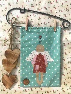 Kit Mini Quilt Country Angel. Patrón de patchwork diseñado por Mi Casita de Patch.