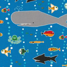 Sea Life from Ed Emberley's Happy Drawing, Too! by Ed Emberley for Cloud9 Fabrics