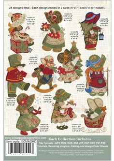 Amazon.com: Anita Goodesign ~ Sunbonnet Sue Christmas ~ Vintage ~ Embroidery Designs