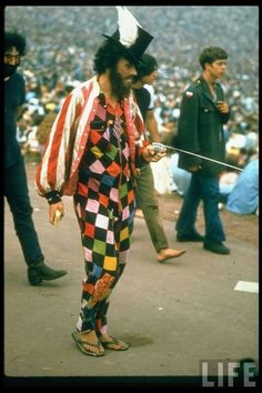 Instead of running away to join the circus, this man just decided to come to Woodstock.