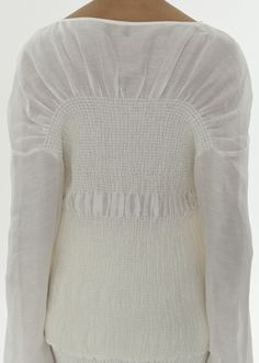 Summery blouse in a luxurious silk and linen blend. It has smocking details, a draping below the collar, extra long sleeves, and a loose fit. Dress up with Coripe skirt in the same fabric. Couture Details, Fashion Details, Fashion Design, Structured Fashion, White Silk Blouse, Pencil Skirt Black, Pencil Skirts, Fringe Sweater, Zara