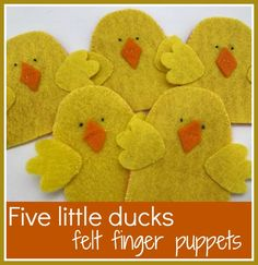 How to make five little duck finger puppets