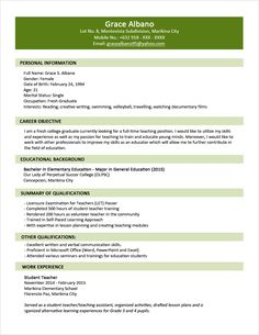 resume with cover letter format
