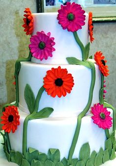 "TLC Cooking ""Cakes from the Cake Boss Image Gallery"" Gerbera, Cupcakes, Cupcake Cakes, Beautiful Cakes, Amazing Cakes, Cake Boss Buddy, Daisy Cakes, Crazy Cakes, Cake Pictures"