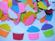 this etsy shop has so many die cuts... including cupcakes! Pinning for later - classroom door dec/table games.