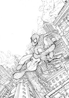 spidey by ZurdoM on DeviantArt - Visit to grab an amazing super hero shirt now on sale! All Spiderman, Spiderman Drawing, Cool Drawings, Drawing Sketches, Comic Books Art, Comic Art, Character Art, Character Design, Perspective Art