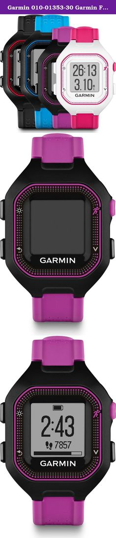 Garmin 010-01353-30 Garmin Forerunner 25 (small) Black/Purple Europe Version. Take your running to the next level. This easy-to-use GPS running watch tracks distance, pace, heart rate1 and personal records. Stay on top of your fitness goals between workouts with activity tracking2 features that remind you when it's time to move and count steps and calories burned all day. Stay connected by pairing it with your smartphone for text and call alerts and automatic uploads to our free online... Running Gps, Running Watch, Calories Burned, Burn Calories, You Fitness, Fitness Goals, Track Distance, Gps Navigation, Count