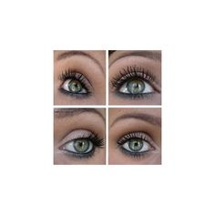 12 Easy Prom Makeup Ideas For Green Eyes Gurl found on Polyvore featuring beauty products, eyes, makeup, eye make up, eye makeup and green