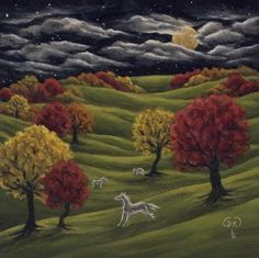 Spirits in the Orchard by Diane Kremmer